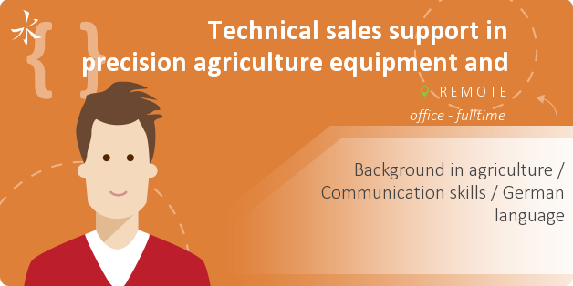 Technical sales support in precision agriculture equipment and software (German language)